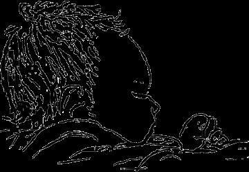 Gerlinde Hüsemann, Hebamme für Osnabrück - Kopf eines Babys gezeichnet